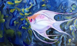 """Angelfish"" (c)2013, by Terre Britton"