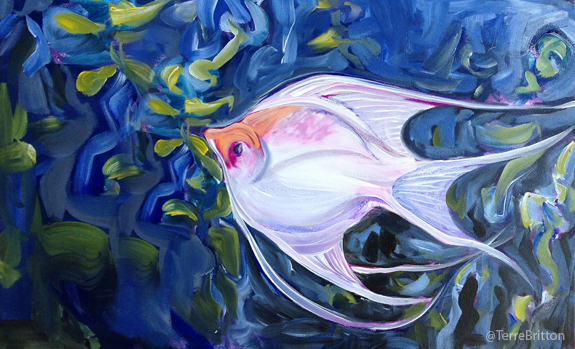 """Angelfish I"" (c)2013, by Terre Britton"