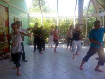 Cours de Qi Gong à Terre d'Asie