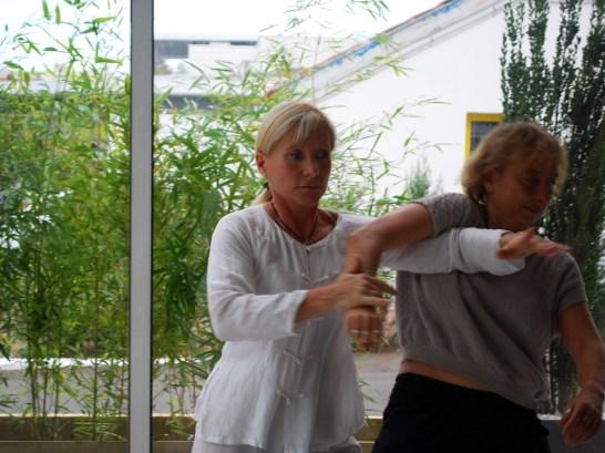 Application martiale du Taiji Quan à Terre d'Asie avec Catherine Bousquet