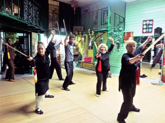 Cours d'épée à Terre d'Asie avec Catherine Bousquet