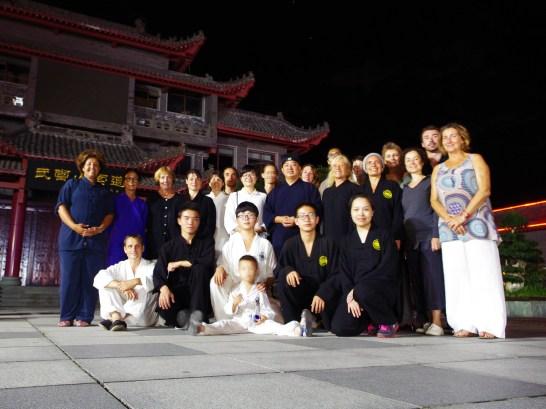 Les élèves de Terre d'Asie avec Maître Chen Li Sheng lors du voyage en Chine en août 2016