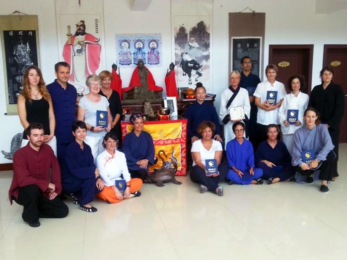 Les élèves de Terre d'Asie avec Maître Yuan Li Min lors du voyage en Chine en août 2016