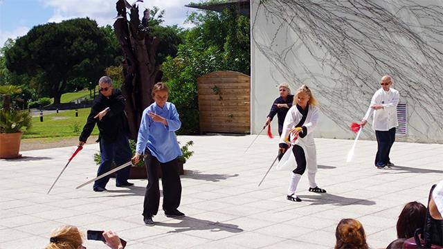 Démonstration d'épée du Wudang avec Catherine-Isaure Bousquet et les pratiquants de Terre d'Asie