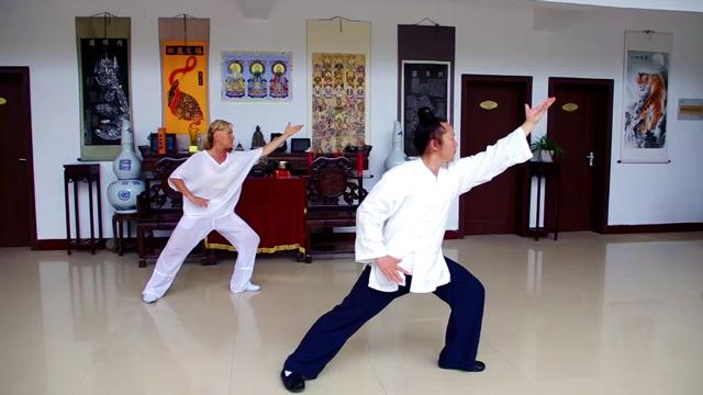 Jiben Gong avec Maître Yuan Li Min au Wudang