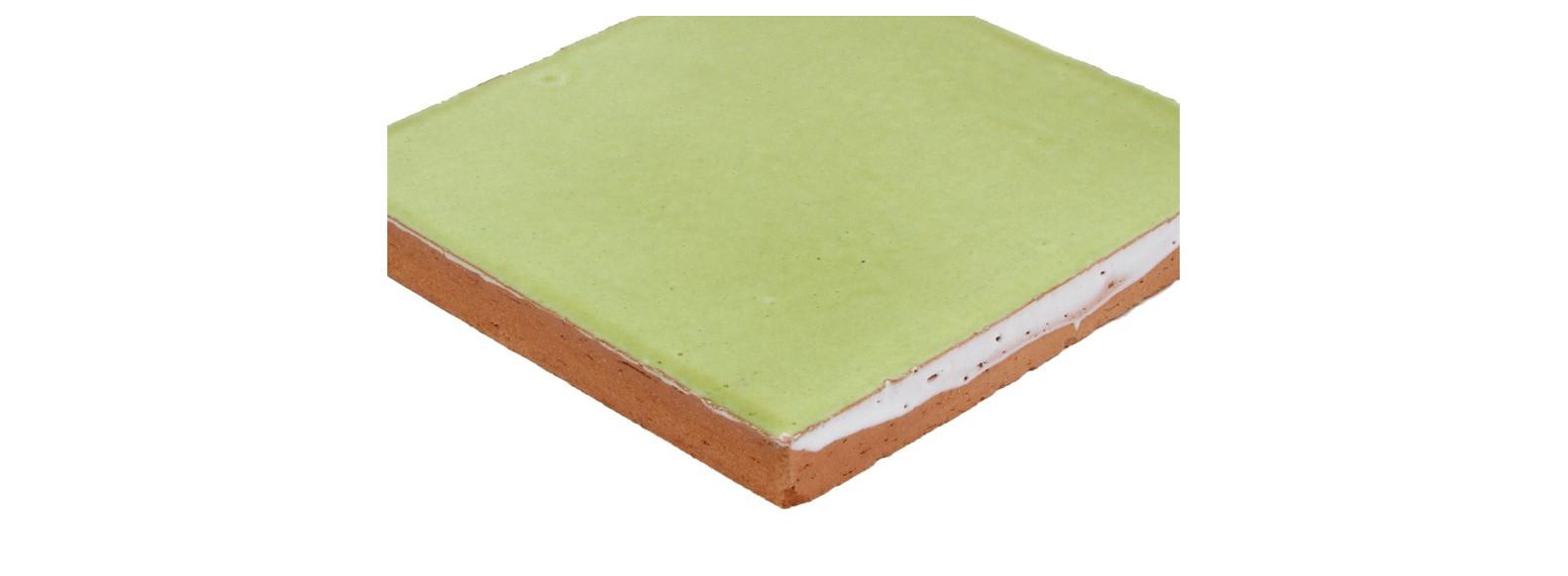 faiences unies du vert clair au vert fonce 10 5 x 10 5 cm