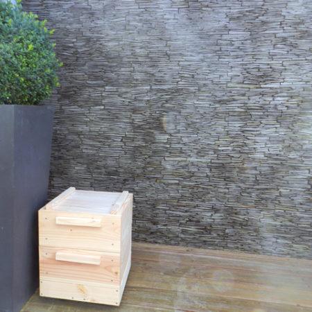 lombricomposteur d'appartement - boite à terre 2 plateaux - terrasse