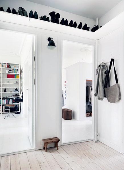 como decorar espacios pequeños.altillo zapatos