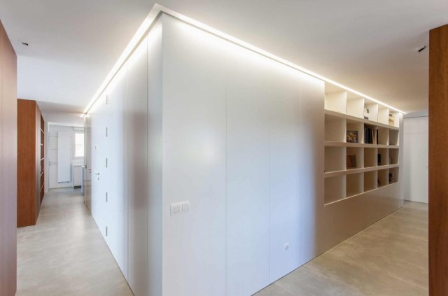 proyecto de interiorismo de vivienda. sanahuja corredor