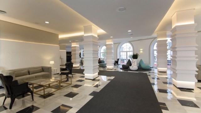 diseño de interiores hotel Monte Triana. recorrido