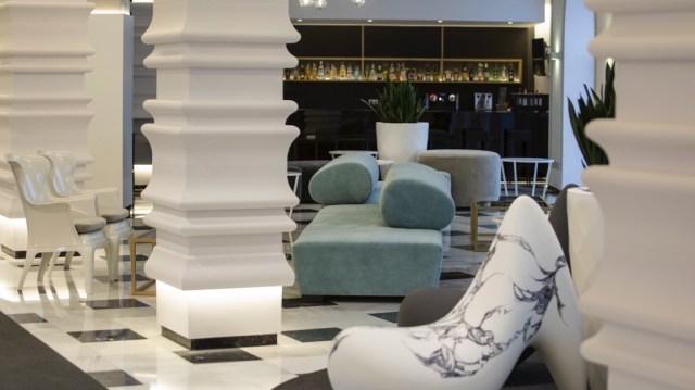 diseño de interiores hotel Monte Triana. lounge bar