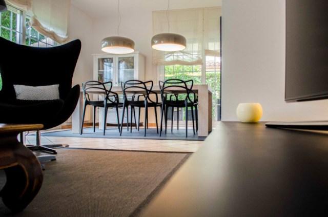 diferentes ambientes en un mismo espacio interior. salon comedor