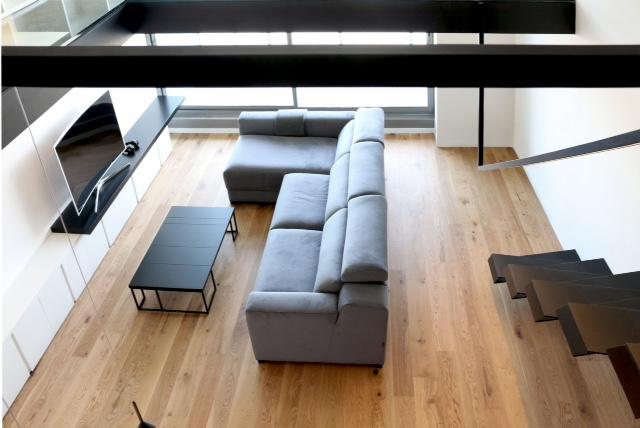 vista desde altillo de apartamento loft
