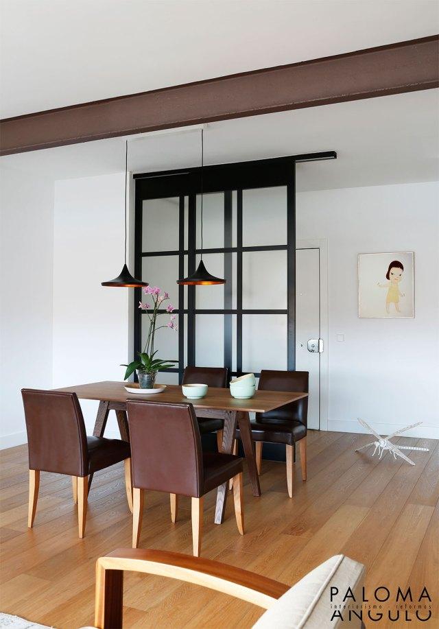 apertura de hall el salón para reformar una vivienda en Madrid