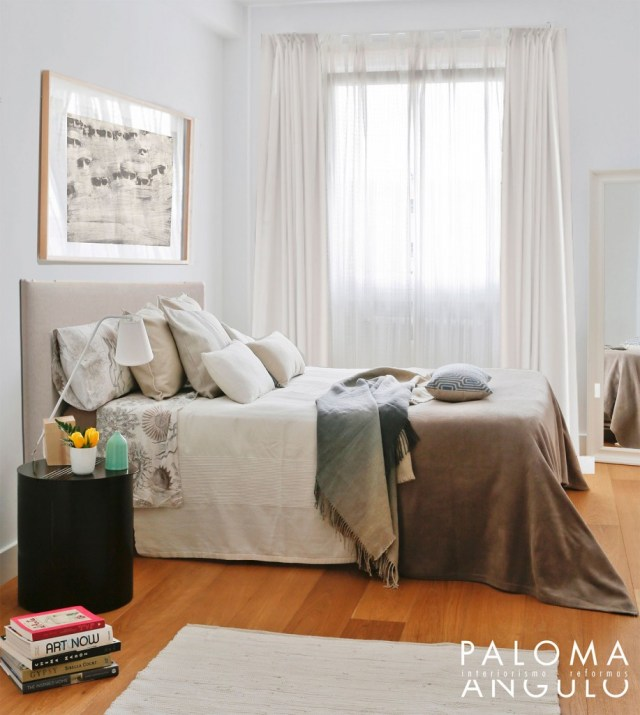 decoración de dormitorio al reformar una vivienda en Madrid