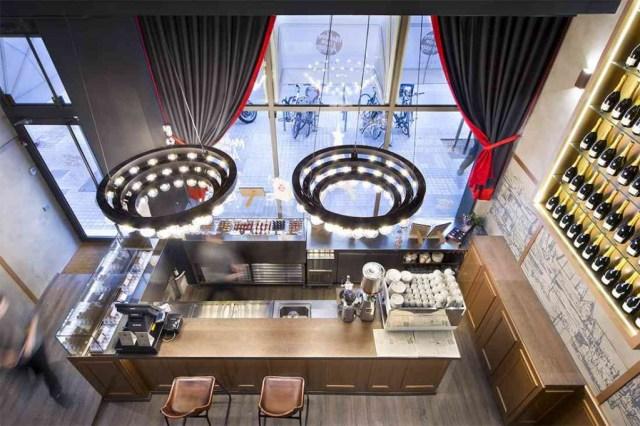 diseño de mobiliario para cafetería