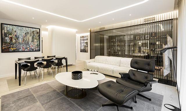 Decoraci n de interiores de una vivienda contempor nea en for Elementos de decoracion de interiores