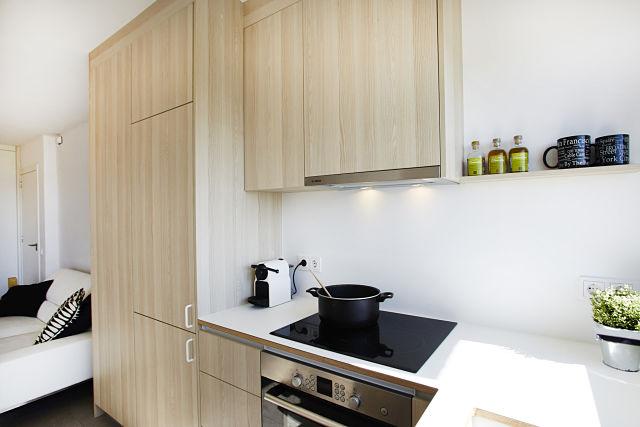 Diseño de cocina en apartamento