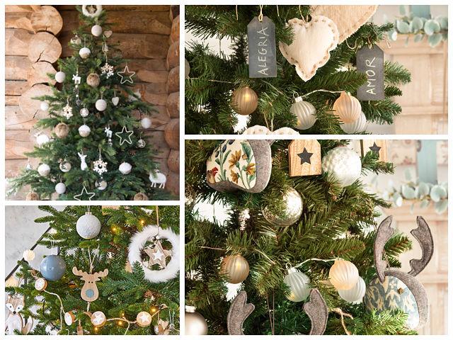 Decoración del árbol de navidad natural