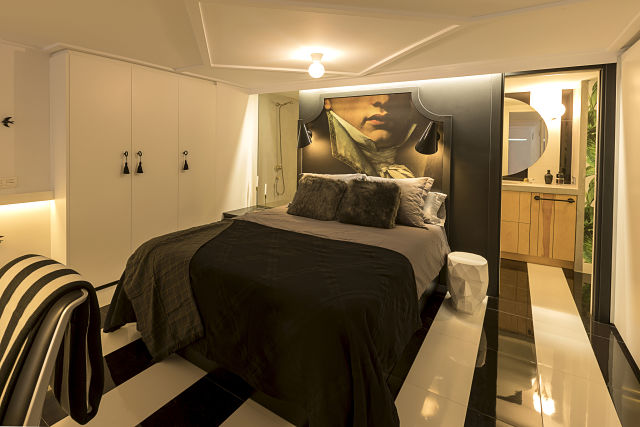 Dormitorio en un loft de diseño