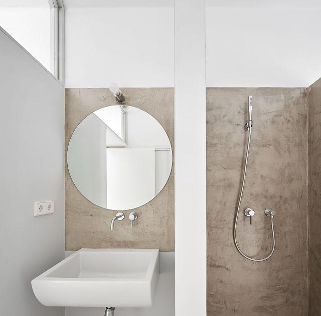 baño secundario en reforma de apartamento