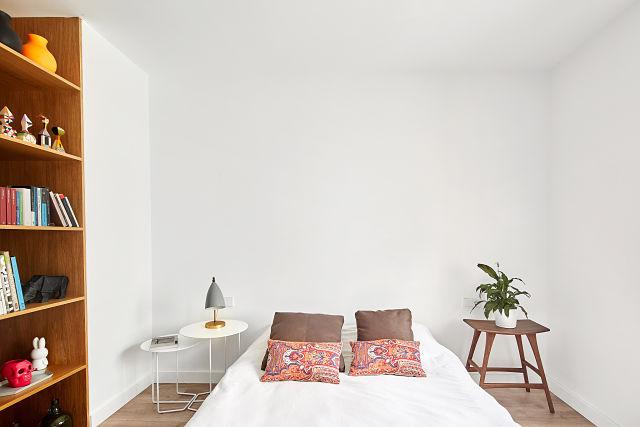 dormitorio en reforma de apartamento