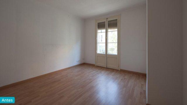 Dormitorio antes del home staging