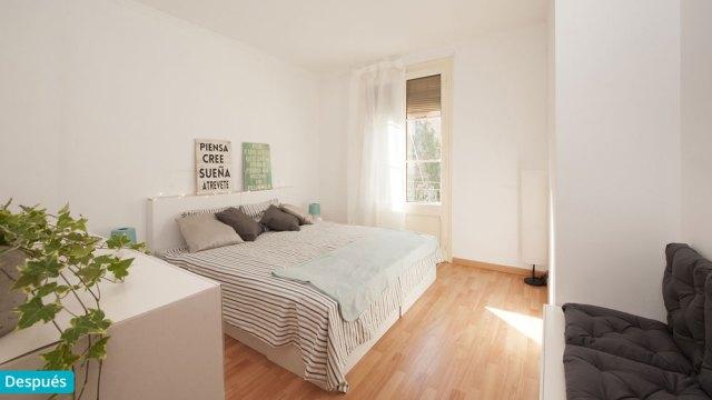Dormitorio después de Home Staging