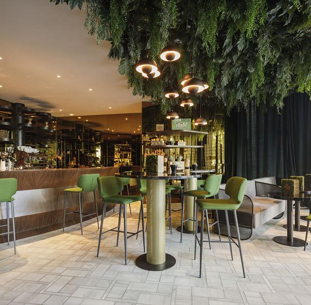 Interiorismo de hotel en cafetería The wild food
