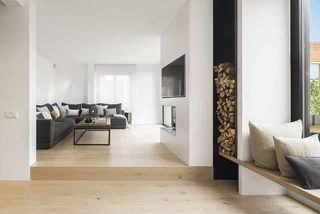 Idea interior en torno a la chimenea