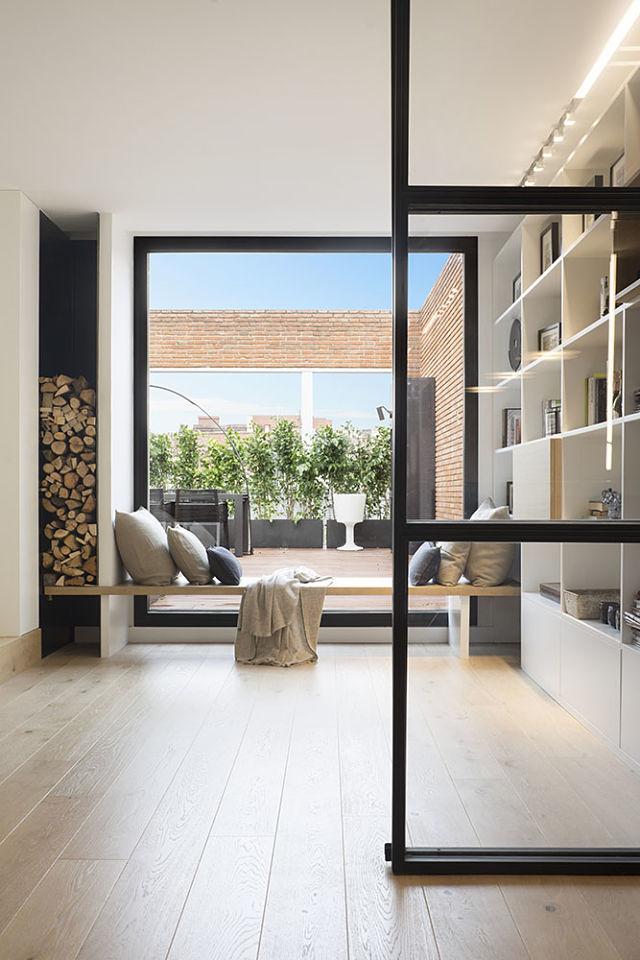 Interior y exterior conectados visualmente