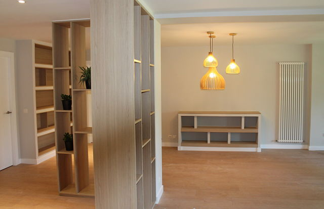 Diseño de interiores nórdico en comedor