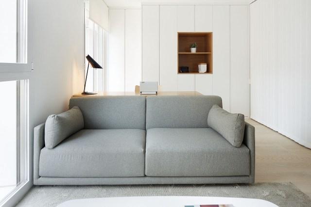 decorar un mini piso con salón de diseño nórdico