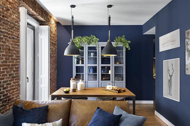 Decoración de apartamento estilo Brit-blue