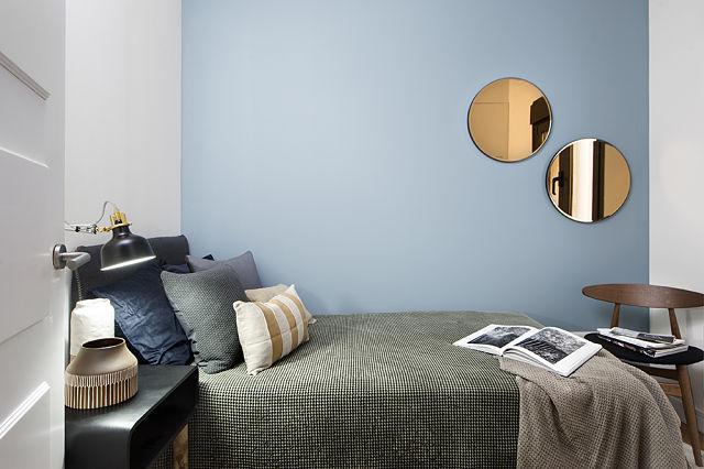 Decoración de dormitorio en apartamento estilo british