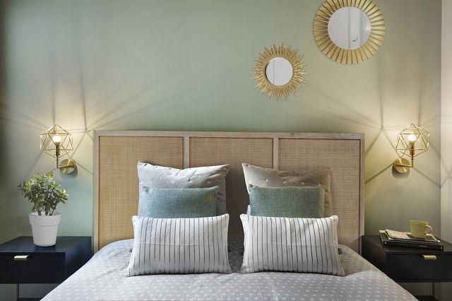 Decoración de dormitorio de apartamento turístico