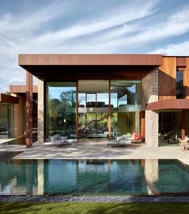 Diseño de casa abierta al jardín