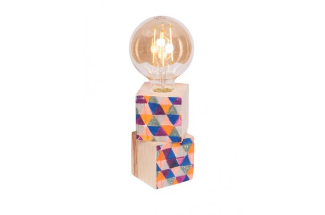 Lámpara de madera ilustrada de Palopalú