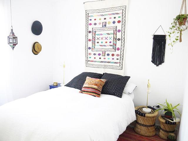 Estilo boho para la decoración del dormitorio