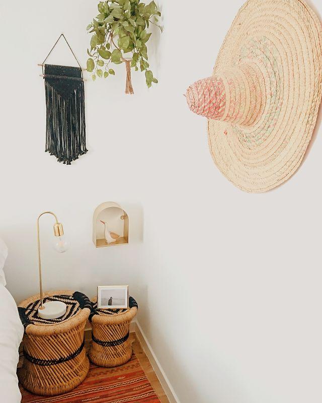 Objetos de decoración en el estilo boho