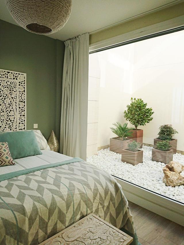 Detalle de dormitorio boho chic