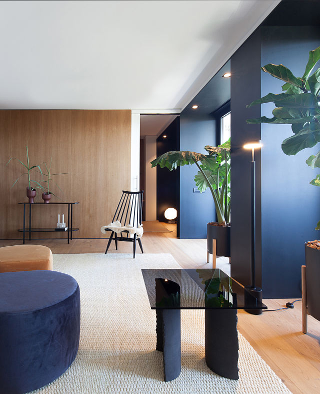 Mobiliario en diseño interior de casas modernas