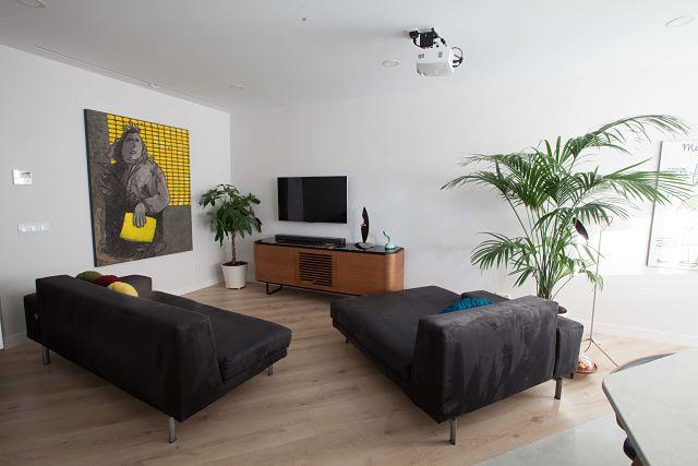 Sofás de diseño en decoración de salón