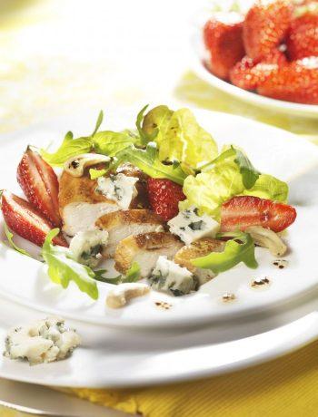salade roquefort blanc volaille fraises