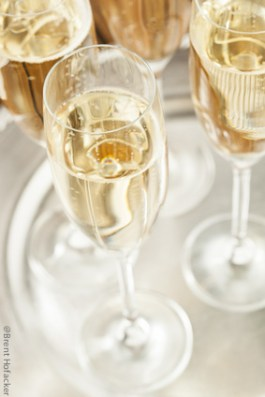 Bubbling Champagne in a Glass