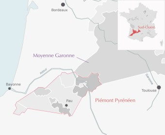 Carte Sud ouest Madiran AOC - Terroir Evasion