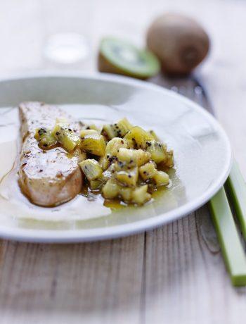 Kiwi de l'Adour et Foie gras des Landes poêlés