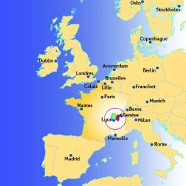 Carte AIN-EUROPE - Terroir Evasion