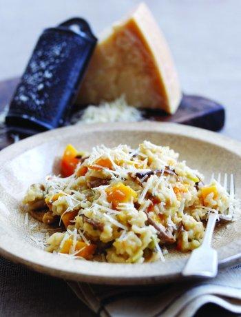 Risotto au Parmigiano Reggiano, cèpes et citrouille