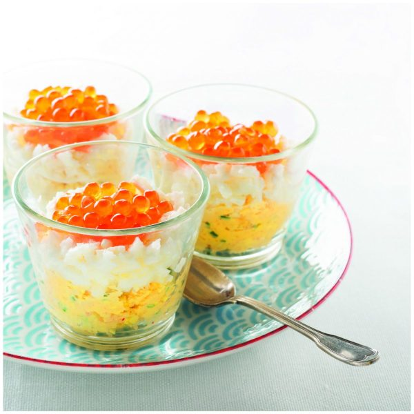 Oeuf mimosa oeufs de saumon